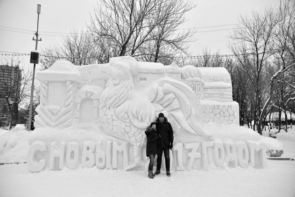 Lissy Mileshenko und Marcus Hanke in Nowosibirsk
